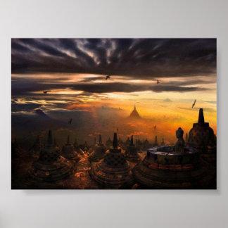 Borobudur-Indonesia Poster