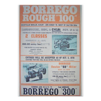 Borrego Rough 100 Race Poster
