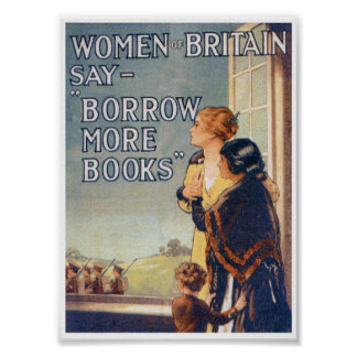 Borrow more books poster