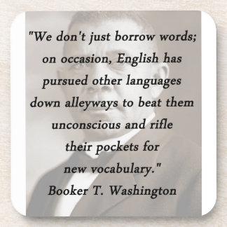 Borrow Words - Booket T Washington Beverage Coaster