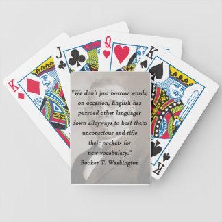 Borrow Words - Booket T Washington Bicycle Playing Cards