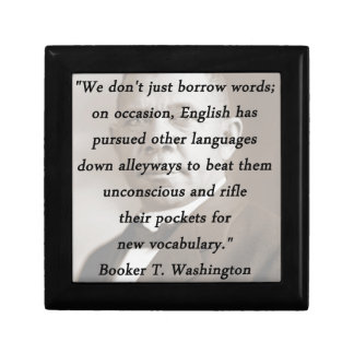 Borrow Words - Booket T Washington Keepsake Box