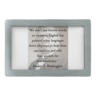 Borrow Words - Booket T Washington Rectangular Belt Buckle