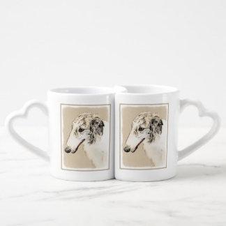 Borzoi 2 coffee mug set