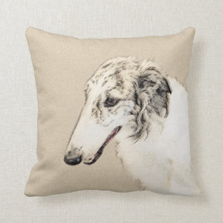 Borzoi 2 throw pillow