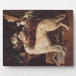 Borzoi And Cats Plaque