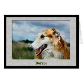 Borzoi Art Gifts Card