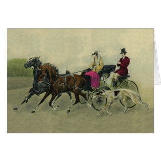Borzoi Carriage Ride Card
