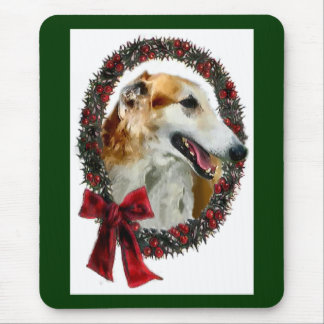 Borzoi Christmas Gifts Mouse Pad