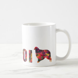 Borzoi Colorful Graphic Multi Mug