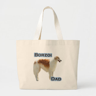 Borzoi Dad 4 Jumbo Tote Bag