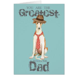 Borzoi Dad Card