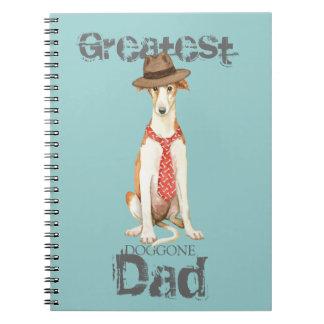 Borzoi Dad Spiral Notebook