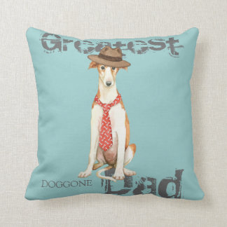 Borzoi Dad Throw Pillow