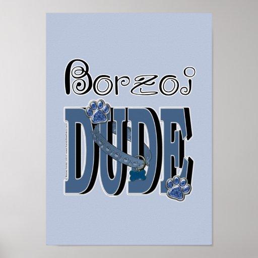 Borzoi DUDE Print