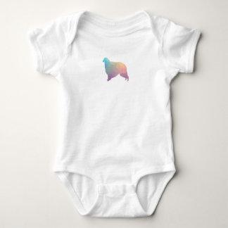 Borzoi Geometric Pattern Dog Silhouette Pastel Baby Bodysuit