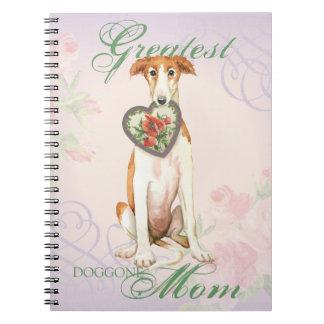 Borzoi Heart Mom Notebook