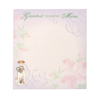 Borzoi Heart Mom Notepad