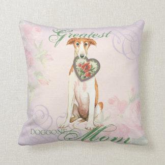 Borzoi Heart Mom Throw Pillow
