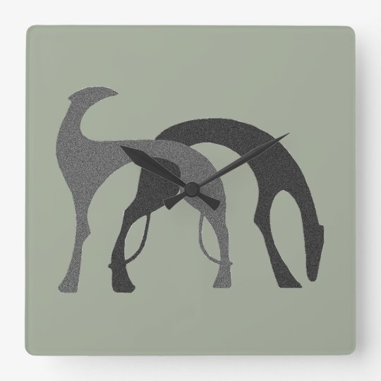 Borzoi Hounds Clock