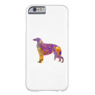 Borzoi in watercolor barely there iPhone 6 case