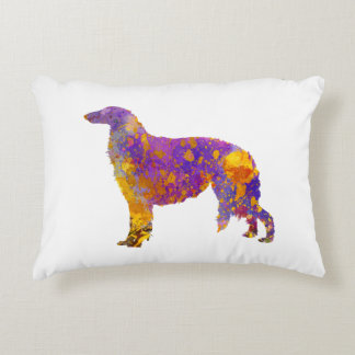 Borzoi in watercolor decorative pillow