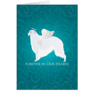 Borzoi Pet Loss Sympathy Design Card