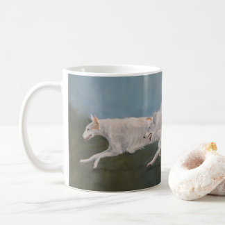 Borzoi Running Dog Art Mug