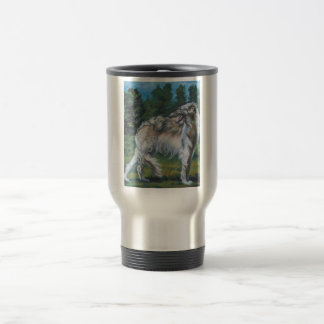 Borzoi Russian Wolfhound Travel Mug