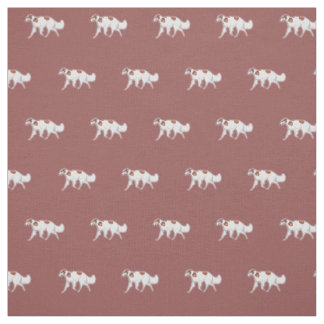 Borzoi Russian Wolfhound Trotting Dog Art Fabric