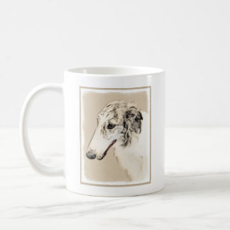 Borzoi (Silver Brindle) Painting Original Dog Art Coffee Mug