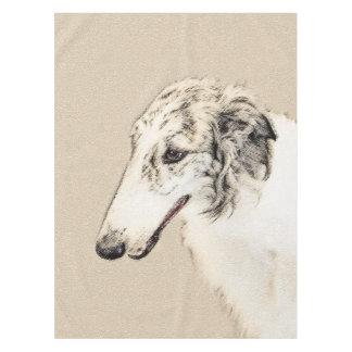 Borzoi (Silver Brindle) Painting Original Dog Art Tablecloth