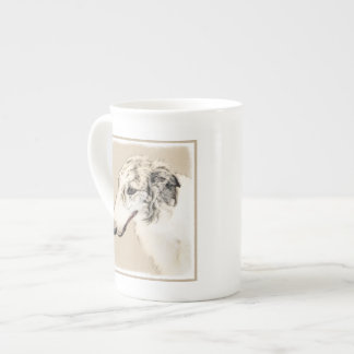 Borzoi (Silver Brindle) Painting Original Dog Art Tea Cup