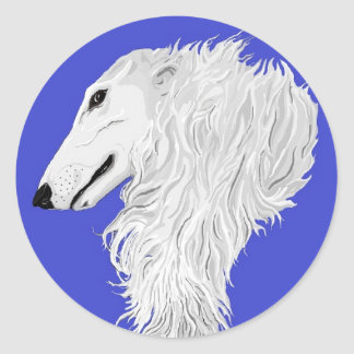 BORZOI STICKER