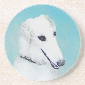 Borzoi (White) Coaster