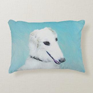 Borzoi (White) Decorative Pillow