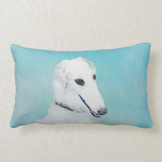 Borzoi (White) Lumbar Pillow