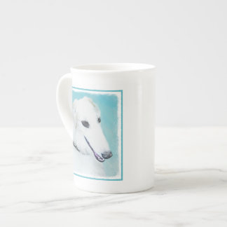 Borzoi (White) Painting - Cute Original Dog Art Tea Cup