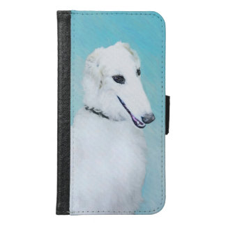 Borzoi (White) Samsung Galaxy S6 Wallet Case