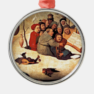 Bosch: The Concert in the Egg Metal Ornament