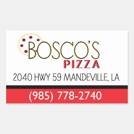 Bosco's Pizza Sticker Label Pizzeria 72marketing