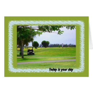 Boses Day, Golf Course & Golfer Card