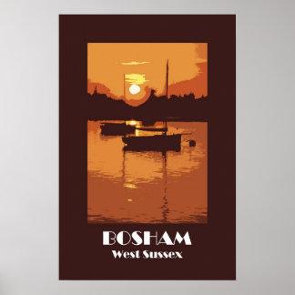 Bosham 1920s retro-style poster