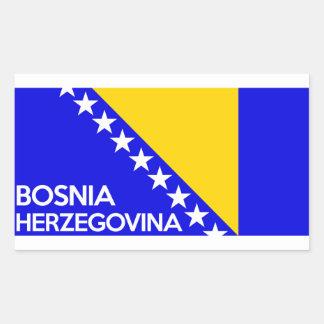 Bosnia and Herzegovina country flag name text Sticker