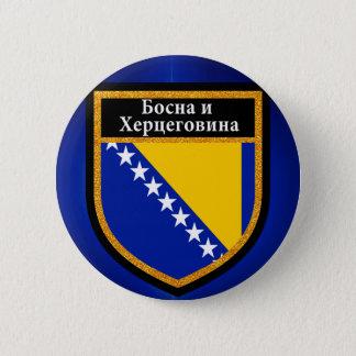 Bosnia and Herzegovina Flag 2 Inch Round Button
