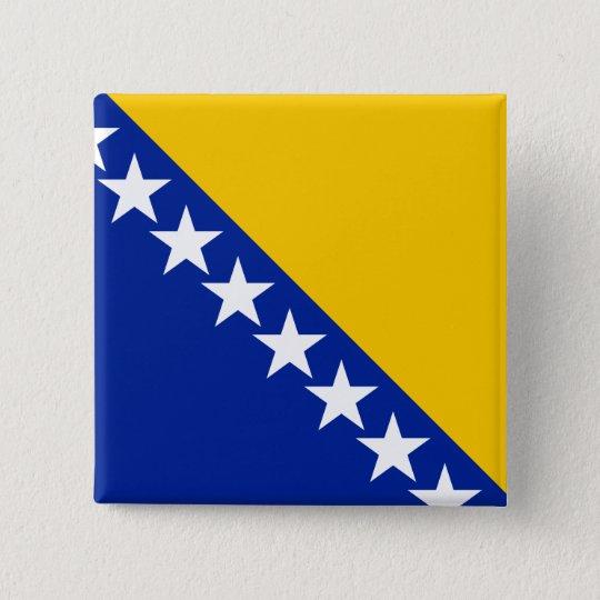 Bosnia and Herzegovina Flag 2 Inch Square Button