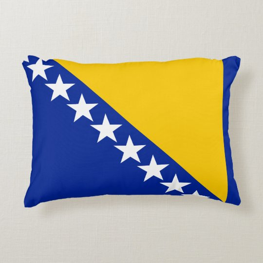 Bosnia and Herzegovina Flag Accent Pillow