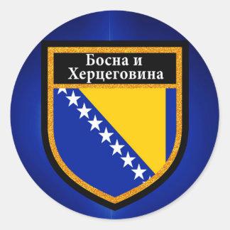 Bosnia and Herzegovina Flag Classic Round Sticker