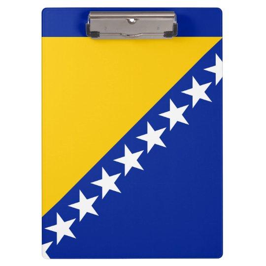 Bosnia and Herzegovina Flag Clipboard
