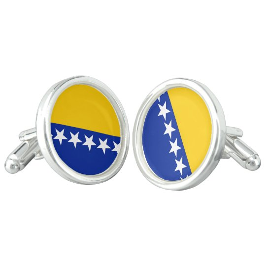Bosnia and Herzegovina Flag Cufflinks